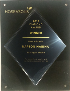 Hoseasons 2019 Diamond Award Winner - Best In Britain, For exceptional quality and outstanding customer service.